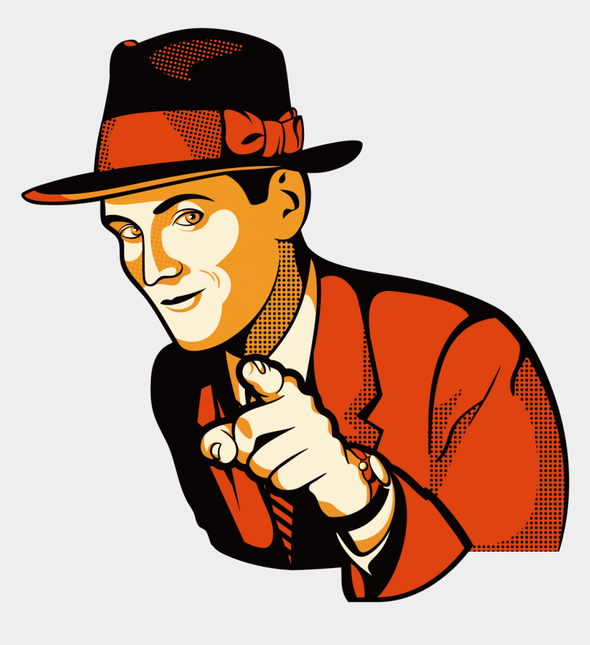 businessman clipart free, Cartoons - Hat Businessman 1276*1276 Transprent Png Free Download - Man Pointing At You Clipart