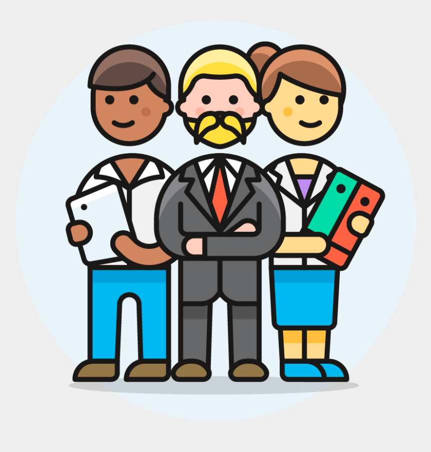 business team clipart, Cartoons - 06 Business Team - Human Resource Management System