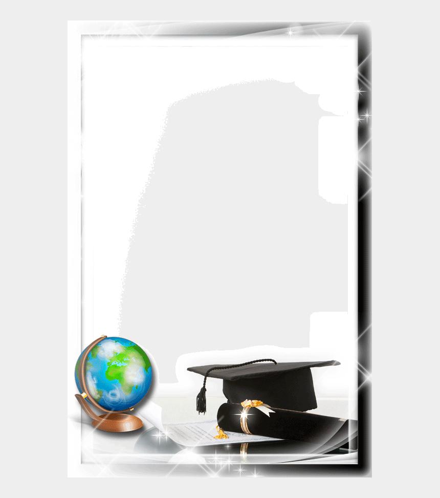 graduation frame clipart, Cartoons - Birrete De Graduacion Con Diploma - Bordes Marcos Para Fotos Png Graduacion