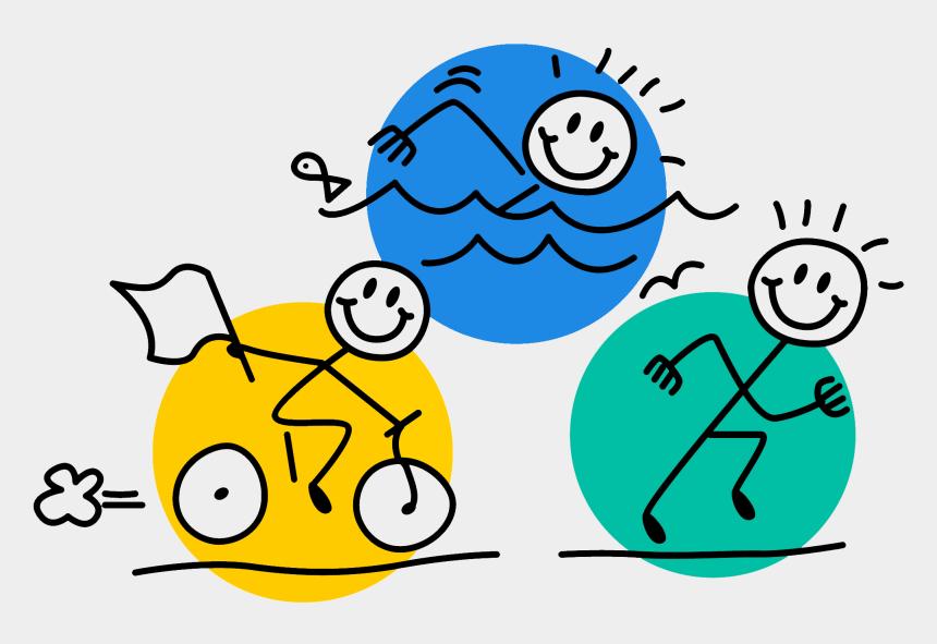 kids having fun clipart, Cartoons - Good Luck In Your Triathlon
