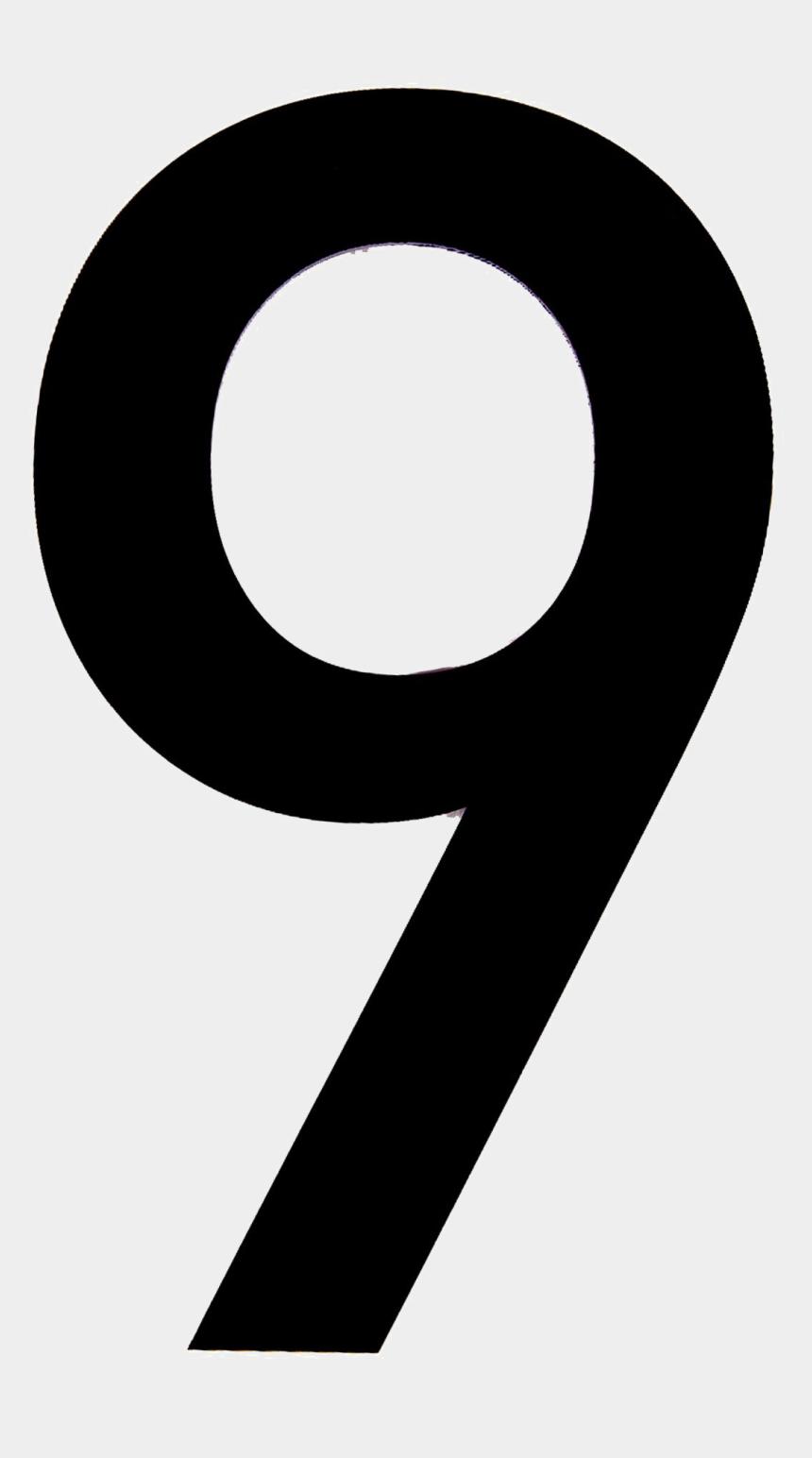 number nine clipart, Cartoons - 9 Number Png Transparent Image - Number 9 Black And White Clip Art