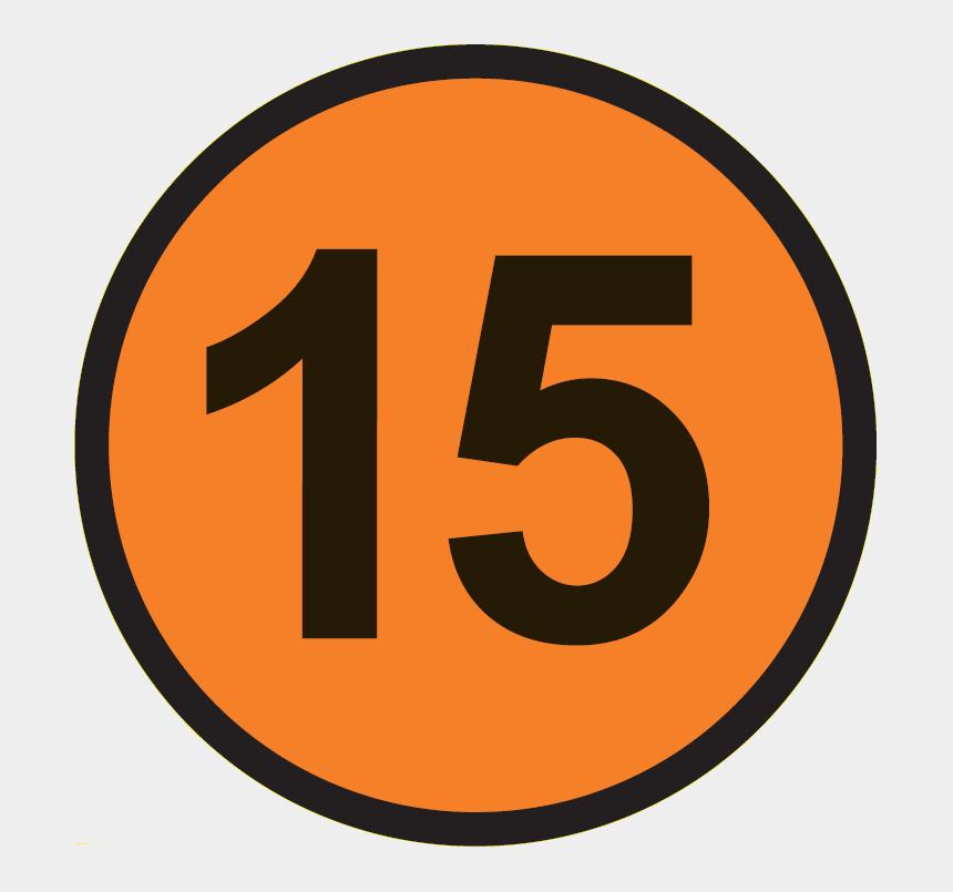 number 15 clipart, Cartoons - Vet 15 Circle - Number 15 In Circle