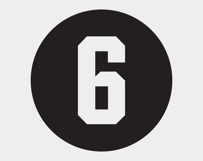 number six clipart, Cartoons - 6 Number Png Pic - Grey Social Media Icons Png