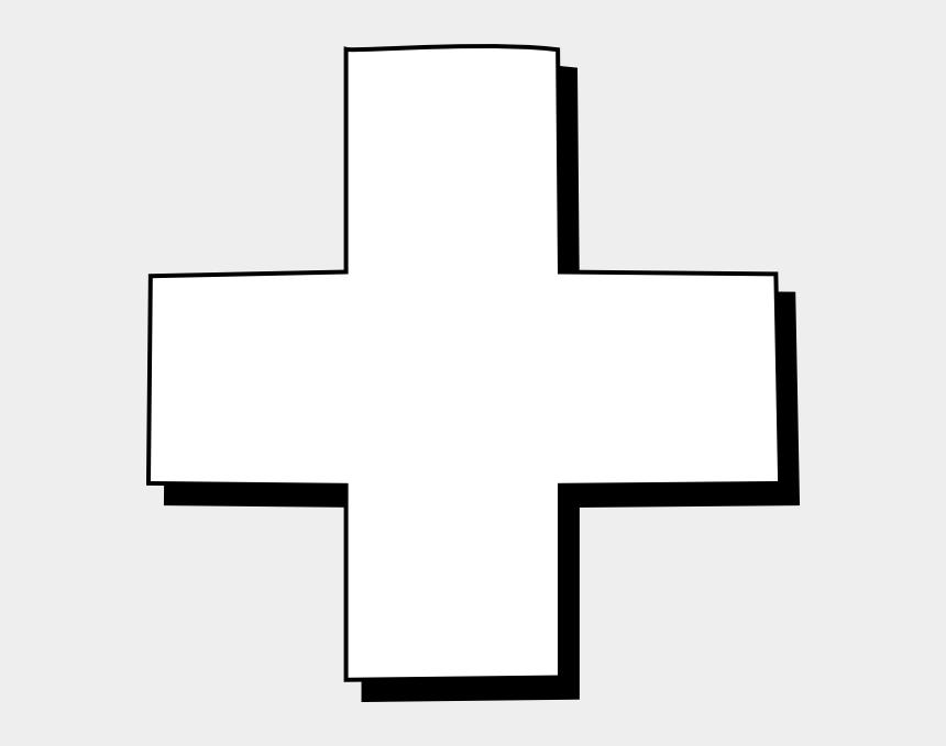 cross outline clipart, Cartoons - White Cross On Black
