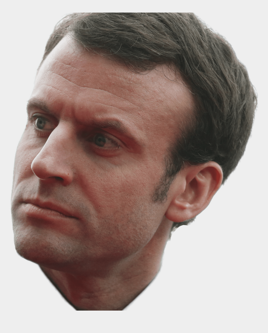 side face clipart, Cartoons - Nose Clipart Nose Side View - Emmanuel Macron Png