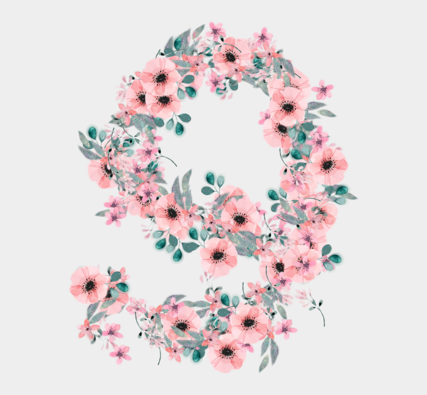 floral numbers clipart, Cartoons - #9 #nine #number #numbers #number9 #numbernine #use - Bouquet