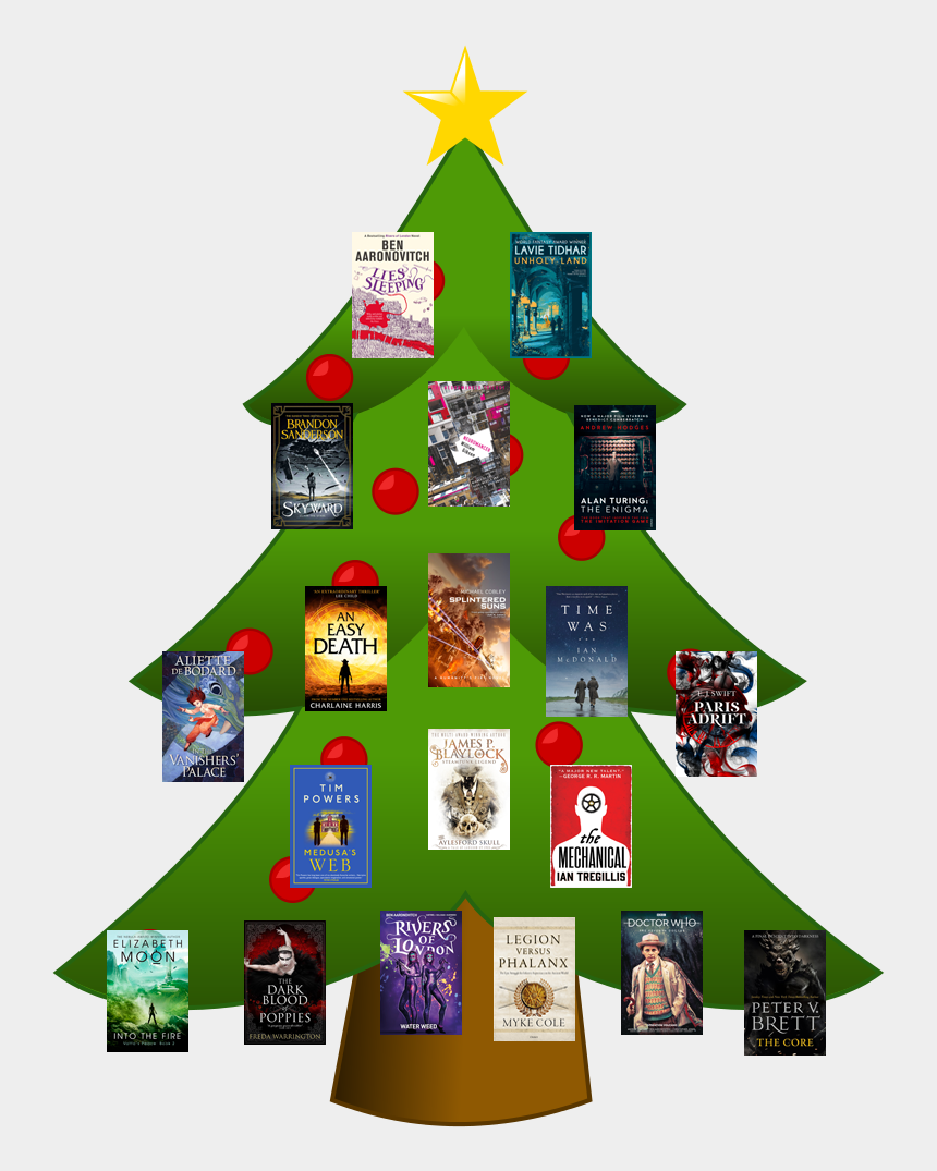 merry christmas & happy new year clipart, Cartoons - May There Be Many Excellent Books In Your Future - Christmas Tree