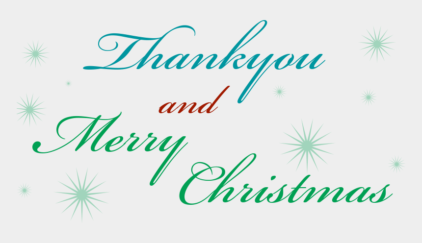 merry christmas & happy new year clipart, Cartoons - Thankyou, Merry Christmas & Email Newsletter News - Christmas Thank You Png