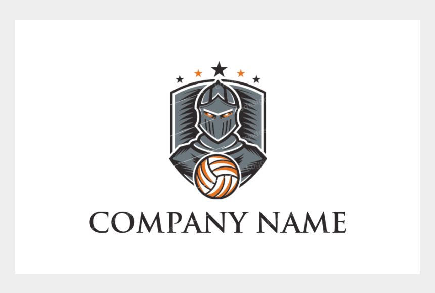 flaming volleyball clipart, Cartoons - Knight With Volleyball In Shield - Logo