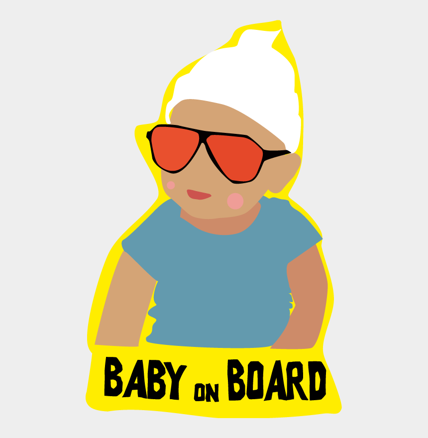baby on board clipart, Cartoons - Baby On Board Tell Everyone With - Sticker Of Baby On Board