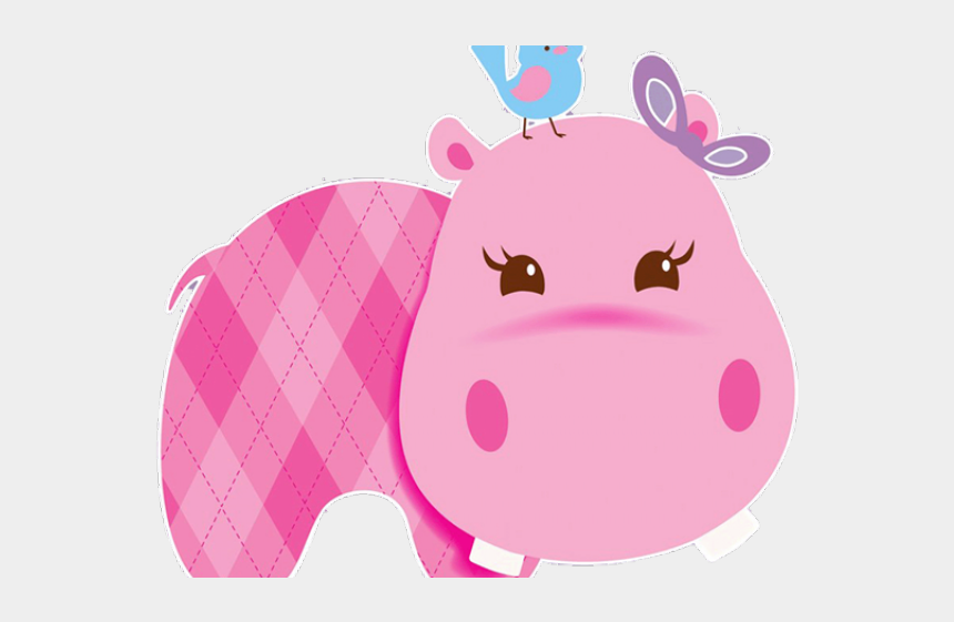 baby animal clipart baby shower, Cartoons - Pink Baby Hippo Clipart
