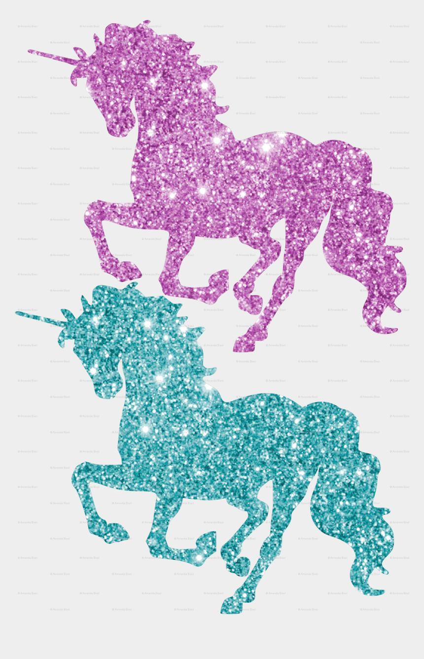 pink horse clipart, Cartoons - Horse Clipart Glitter - Glitter Unicorn Wall Stickers