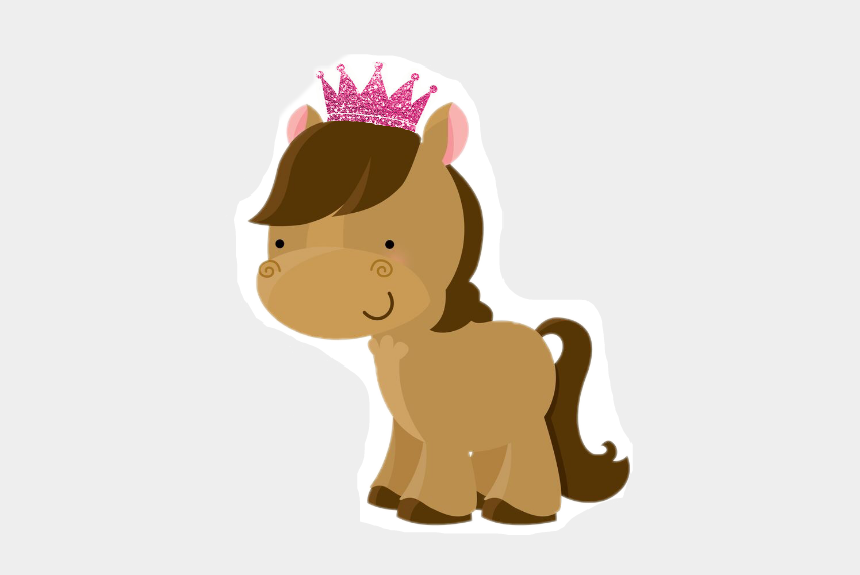 pink horse clipart, Cartoons - #animals #horse #pony #crown #pink - Baby Horse Clipart Png