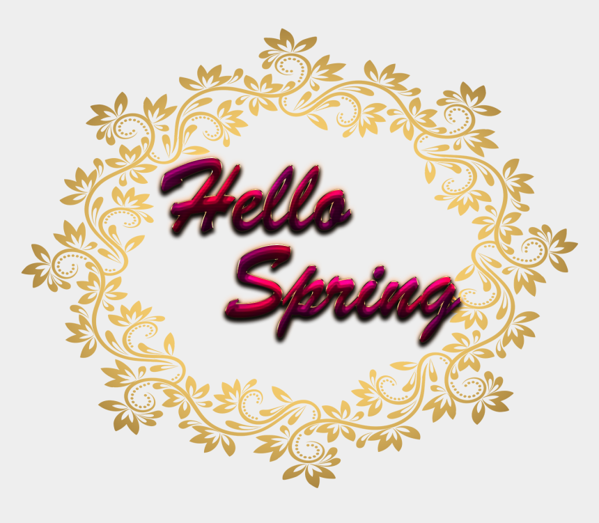 hello spring clipart, Cartoons - Circle Border Transparent Background