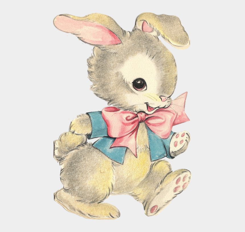 spring roll clipart, Cartoons - Here It Is, The Long Awaitedwait For The Drum-roll - Vintage Bunny Png