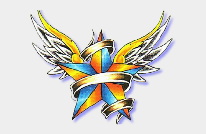 nautical star clipart, Cartoons - Nautical Star With Banner Tattoo
