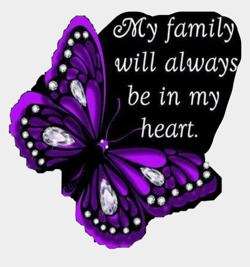 family love clipart, Cartoons - #purple #family #love #butterfly #quote #heart #freetoedit - My Family My Heart
