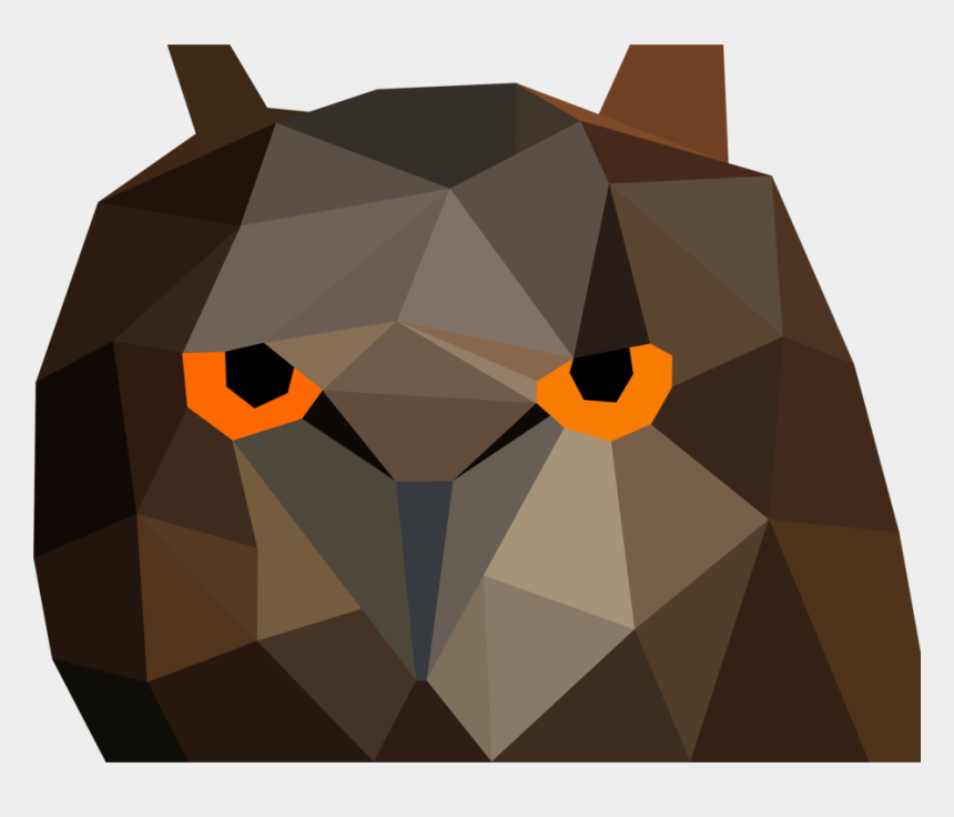owl head clipart, Cartoons - Owl Low Poly Bird Computer Icons - Chim Low Poly