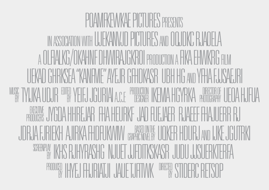 clipart movie posters, Cartoons - Lines Greek Billing Blocks Poster Credits - Movie Poster Fine Print Png