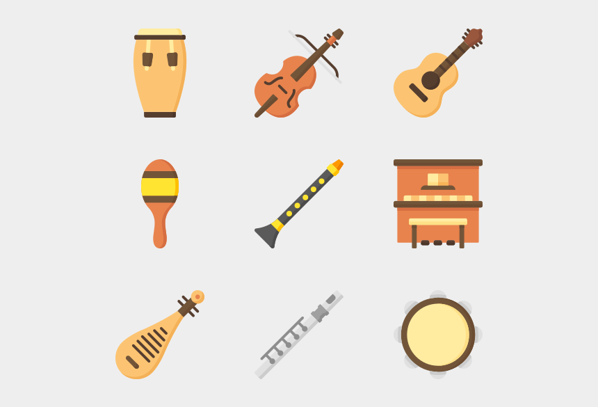 clipart pictures of musical instruments, Cartoons - Music Instruments