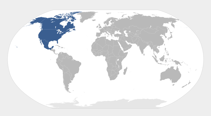 north america map clipart, Cartoons - What Is The Shaded Continent On The Map North America - Countries That Drive On The Left