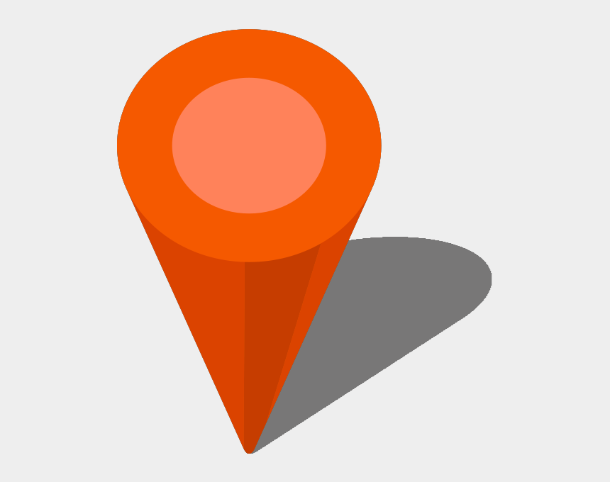 map pin clipart, Cartoons - Location Map Pin Orange7 - Location Map Icon Vector