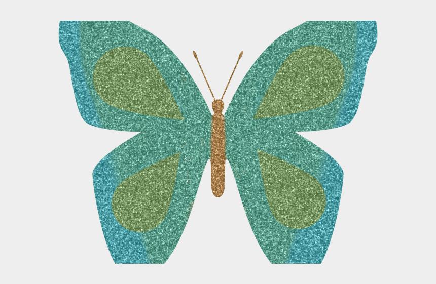 orange butterfly clipart, Cartoons - Rainbow Butterfly Clipart Blue Orange Butterfly - Butterfly Drawing With Glitter Sheet