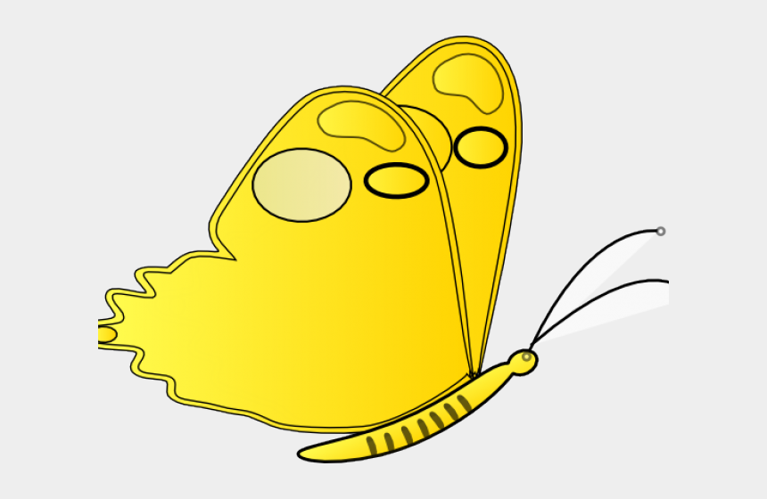 yellow butterfly clipart, Cartoons - Yellow Butterfly Clipart Png