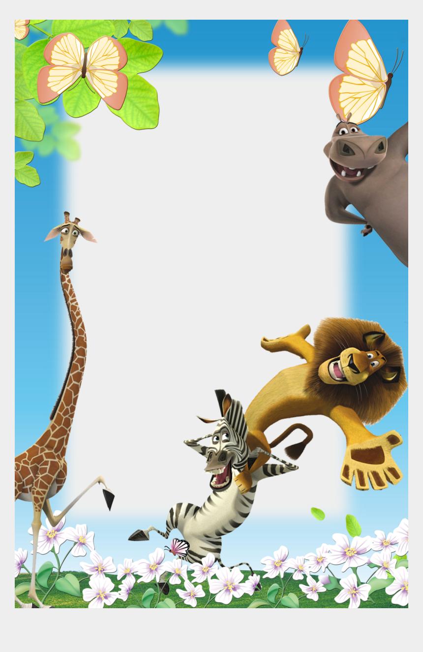jungle frame clipart, Cartoons - Frames Png Infantil Er Eve Baski Framespnginfantilpng - Animals Frame Png