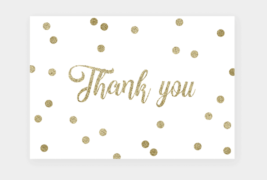 thank u clipart, Cartoons - Printable Thank You Cards For Gold Baby Shower - Polka Dot