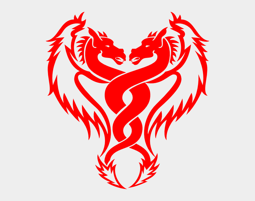 red dragon clipart, Cartoons - Dragon Tattoo Design Black And White