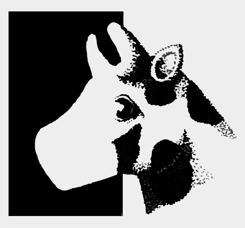 cow head clipart black and white, Cartoons - Cow, Head, Style, Animal, Cutout, Cattle - Cattle