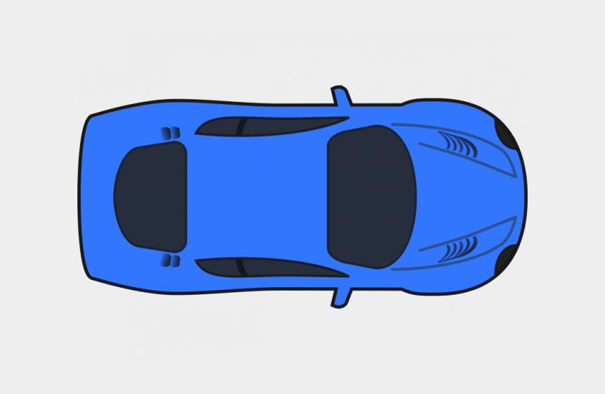 car park clipart, Cartoons - Blue Car Clipart Race Car - Car Top Down View