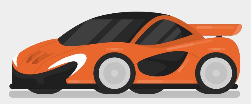 orange car clipart, Cartoons - Sports Car Coupxe Orange - Orange Car Cartoon