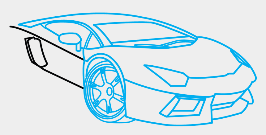 simple car clipart, Cartoons - How To Draw Lamborghini Aventador, A Car, Easy Step - Easy Lamborghini Aventador Drawing