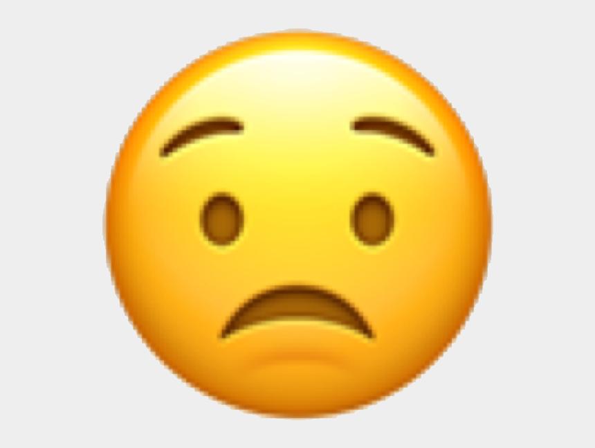 worried face clipart, Cartoons - #emoji #emojicon #emote #face #emojiface #concerned - Raised Eyebrow Emoji Png