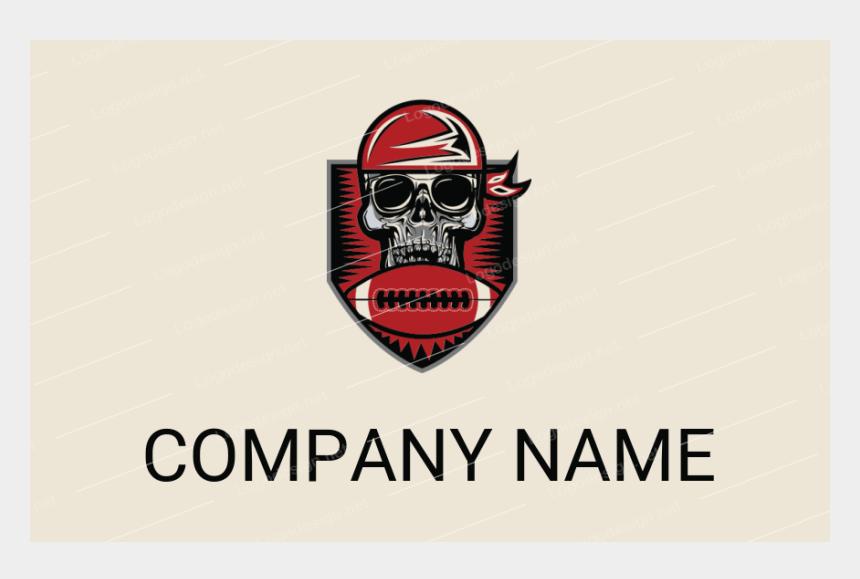 flaming football clipart, Cartoons - Skull Wearing Bandanna With Football - Logo Chef Png