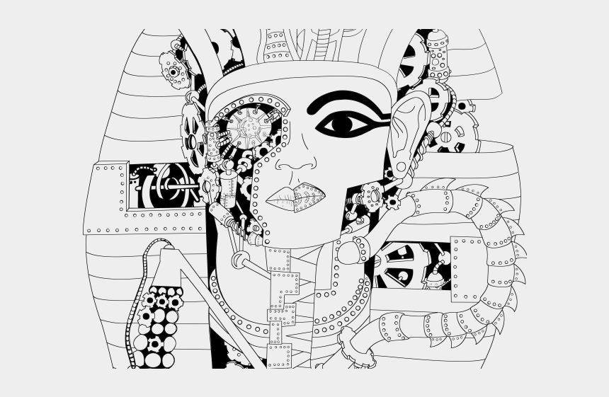 skull face clipart, Cartoons - Tribal Skull Tattoos Clipart Face - Egyptian Drawings