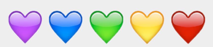 rainbow heart clipart, Cartoons - #rainbow #heart #love #emot #kawaii #cute #shine #aesthetic - Heart