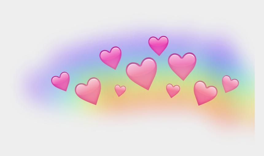 rainbow heart clipart, Cartoons - #rainbow #heart #crown