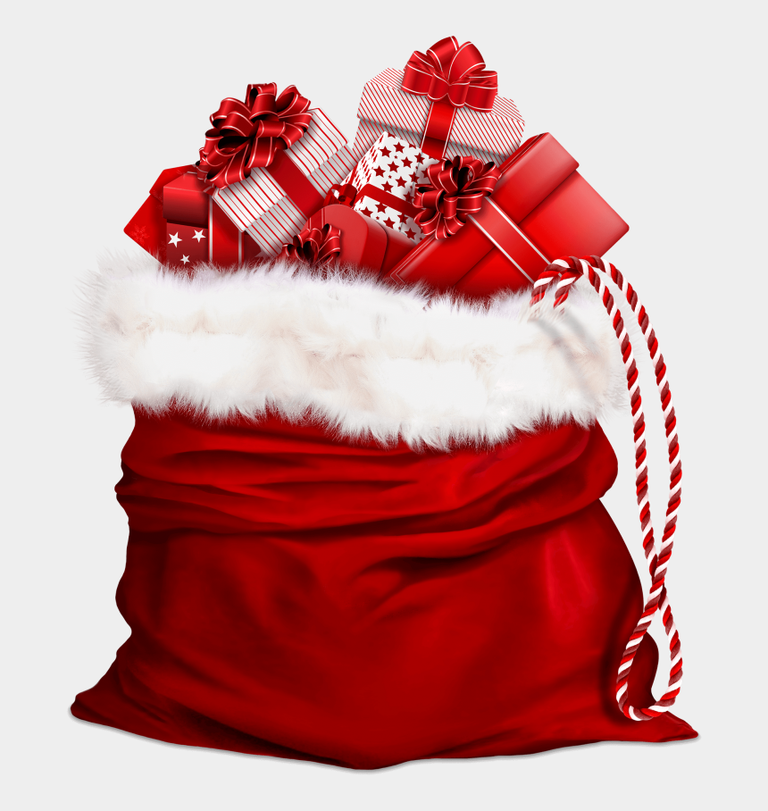 santa's list clipart, Cartoons - Santa Claus Bag With Gifts - Professional Christmas And New Year Wishes