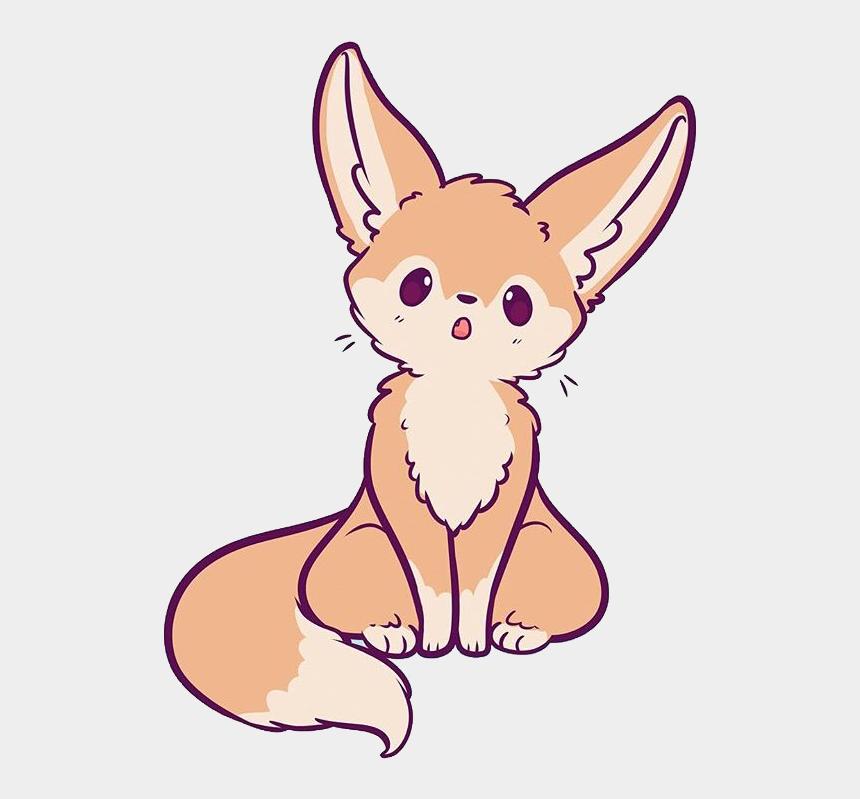 fennec fox clipart, Cartoons - #fennecfox #fox #cute #kawaii #animal #naomilord #freetoedit - Drawing Kawaii Fennec Fox