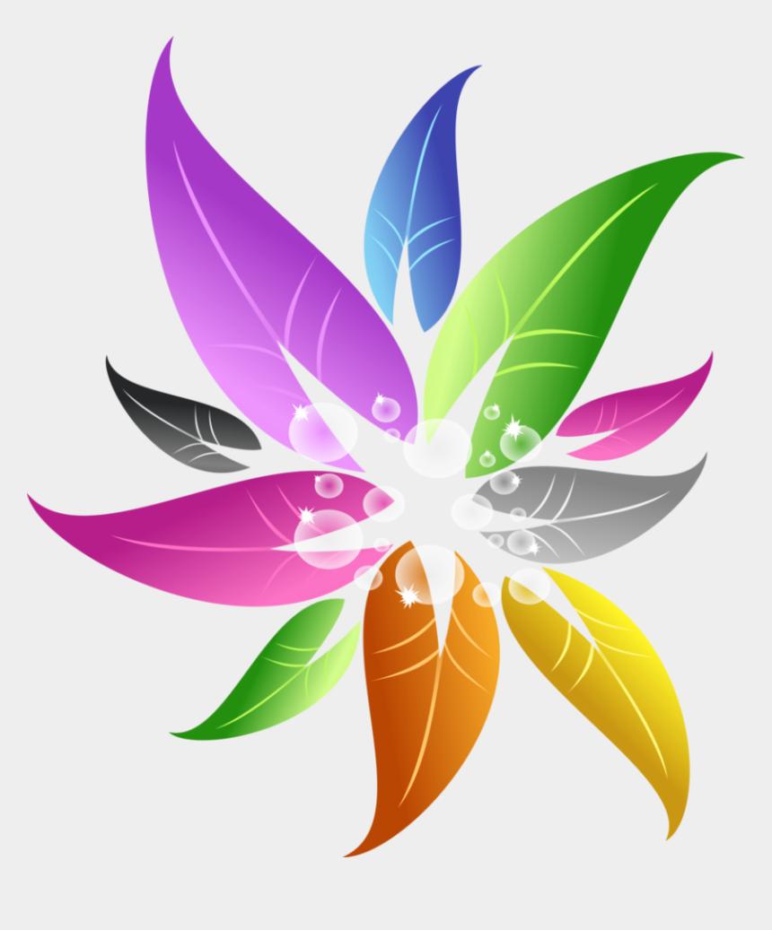 colorful flower clipart, Cartoons - Colorful Flowers Png - Color Floral Design Png