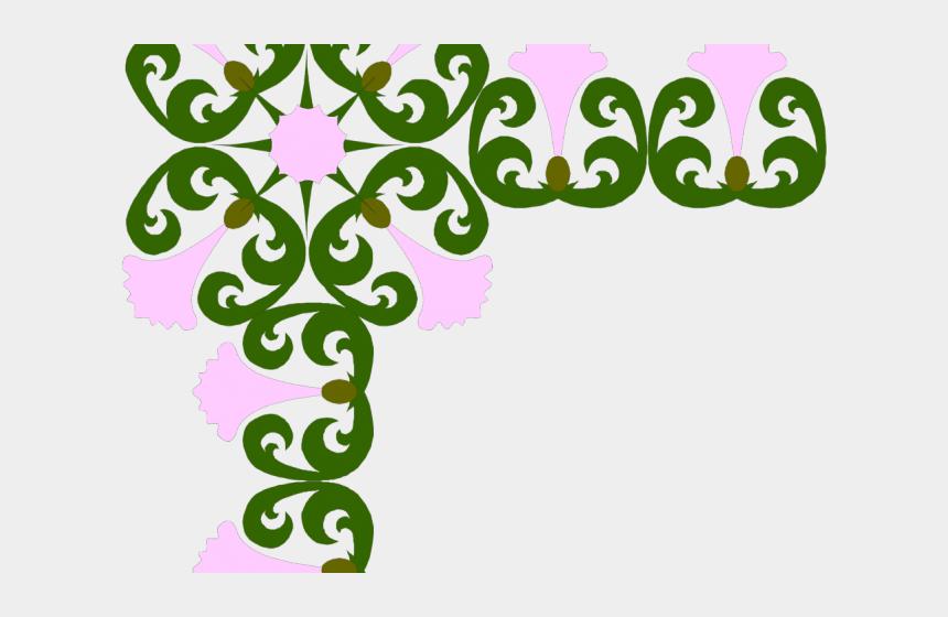 corner flower clipart, Cartoons - Purple Flower Clipart Corner Border - Png Border Design
