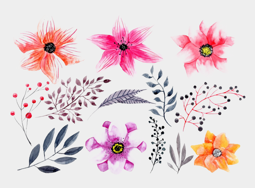 clipart watercolor flowers, Cartoons - Watercolor Flowers Png Hd Photo - Watercolor Painting
