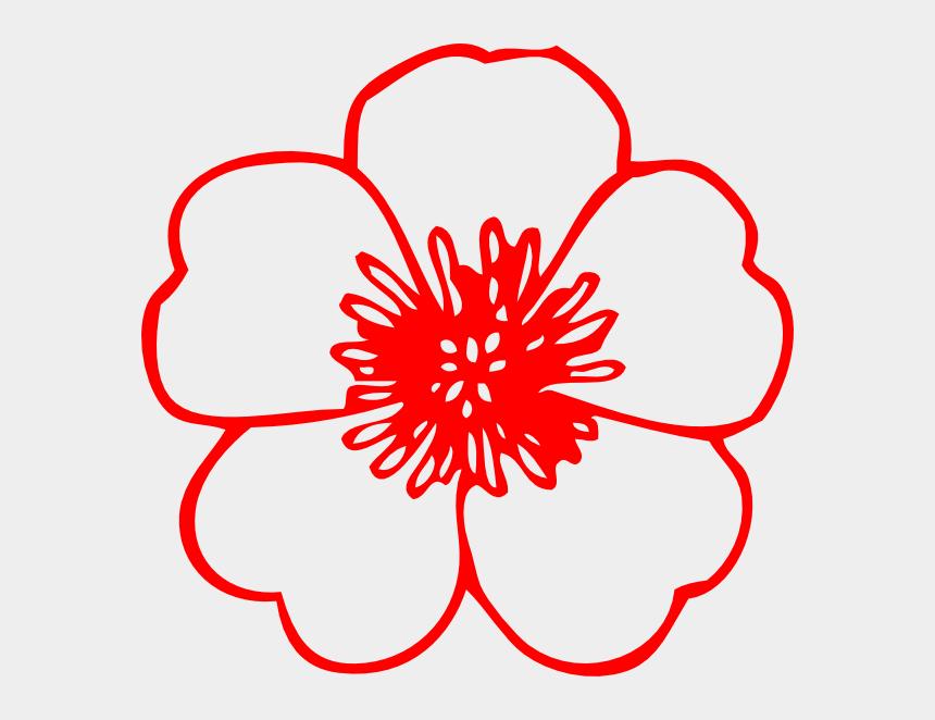 peach flower clipart, Cartoons - Red Buttercup Flower Clip Art - Spring Flowers Clip Art Black And White