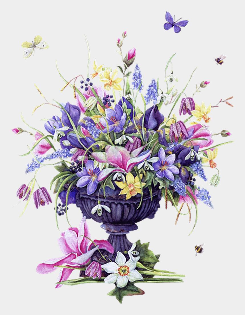 flower arrangement clipart, Cartoons - Vintage Images Flowers Birds - Vintage Flower Flower Vase Png