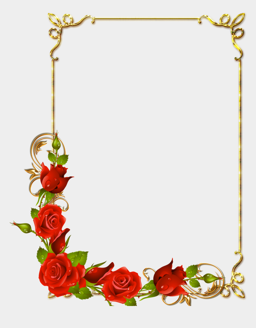 rose frame clipart, Cartoons - Free Icons Png - Page Borders With Flowers