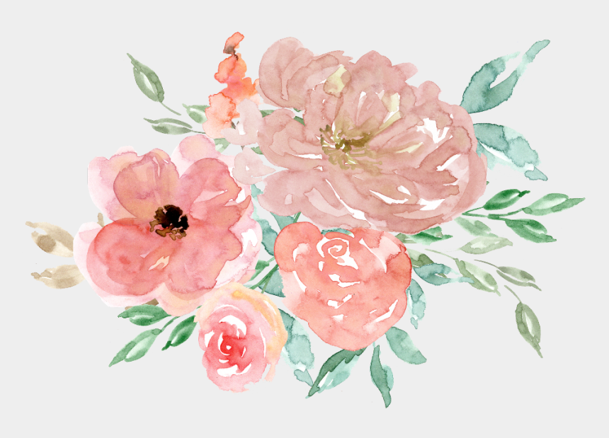 watercolour flower clipart, Cartoons - #boquet #bouquet #watercolor #watercolour #flowers - Watercolor Flowers Clipart Free