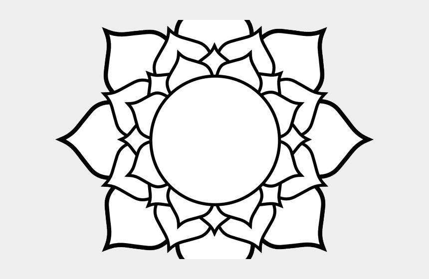 flower pattern clipart, Cartoons - Line Art Clipart Flower Pattern - Hindu Lotus Flower Symbol